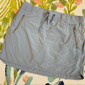 Athleta Gray Elastic Waistband Skirt